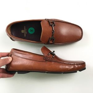 Bruno Magli Men's Brown Loafers 8 D18